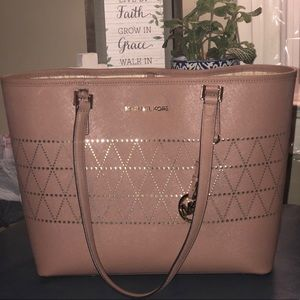Michael Kors Pink and Gold Tote RARE